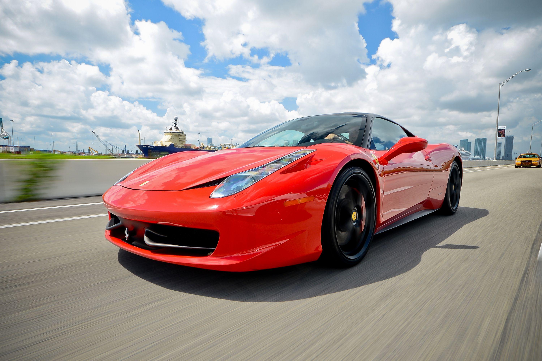 Rent A Red Ferrari In Miami South Beach Florida